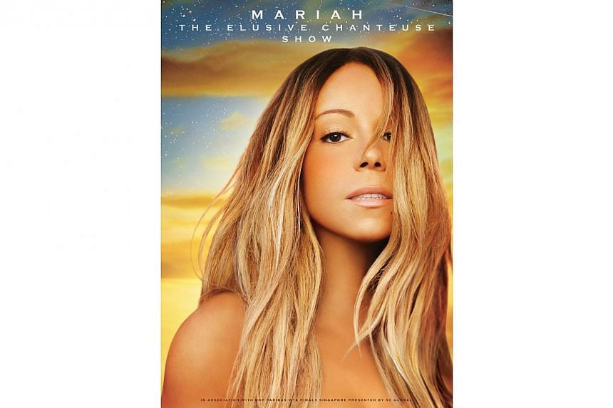 Poster for Mariah Carey concert. American pop diva Mariah Carey will perform at the National Stadium this Friday as planned, but the performance stage will be repositioned off the pitch to ensure that the field will not be damaged. -- PHOTO:&nbs