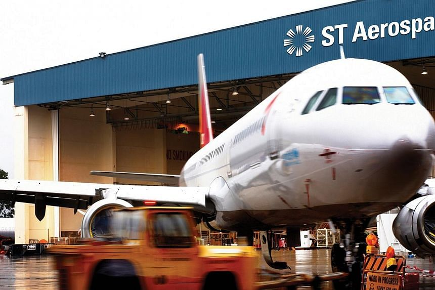 Singapore Technologies Engineering (ST Engineering) said its aerospace arm has sealed new contracts worth $450 million in the third quarter. -- PHOTO: ST AEROSPACE