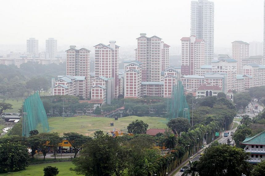 The site of the new junior college at the junction of Sin Ming Avenue and Marymount Road, which will open in 2017. Serangoon JC head Madam Cheang Mei Heng will helm it. -- PHOTO: LIANHE ZAOBAO