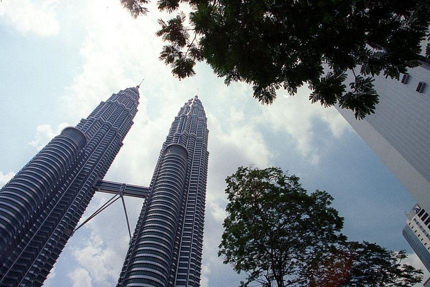 The Petronas Twin Towers in Kuala Lumpur.