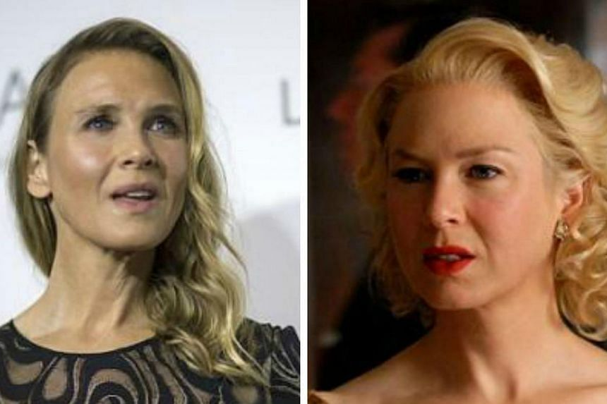Actress Renee Zellweger doesn't look the same anymore. She turned up at the ELLE Women In Hollywood Awards in Los Angeles on Monday (left) with tighter skin and a pair of eyes that looks very different from her old look (right). -- PHOTO: REUTERS,&nb