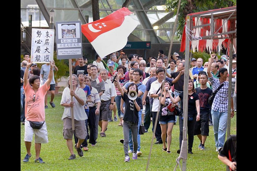 The conduct of the Return Our CPF rally participants, who encroached onto the venue of a YMCA charity event at Hong Lim Park on Sept 27, was out of proportion, unsupported by logical reasoning and certainly not validated by any sense that there were
