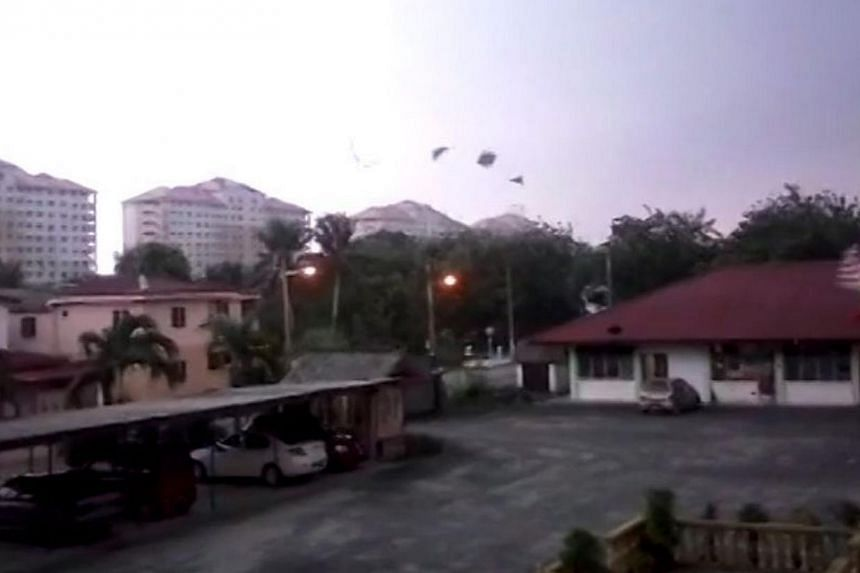 A screengrab of another viral video of the weather phenomenon in Klang. -- PHOTO: THE STAR/ASIA NEWS NETWORK