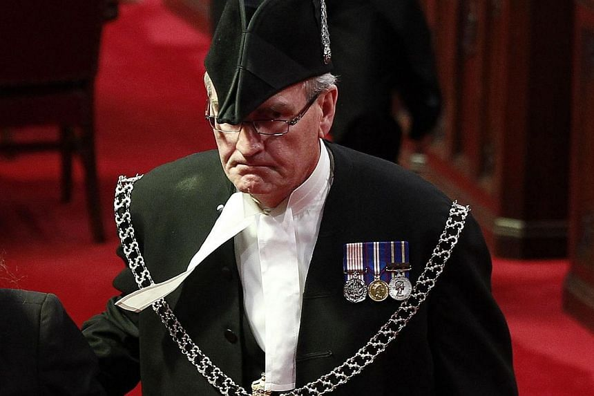 Sergeant-at-Arms Kevin Vickers is pictured in the Senate chamber on Parliament Hill in Ottawa on 2011. -- PHOTO: REUTERS