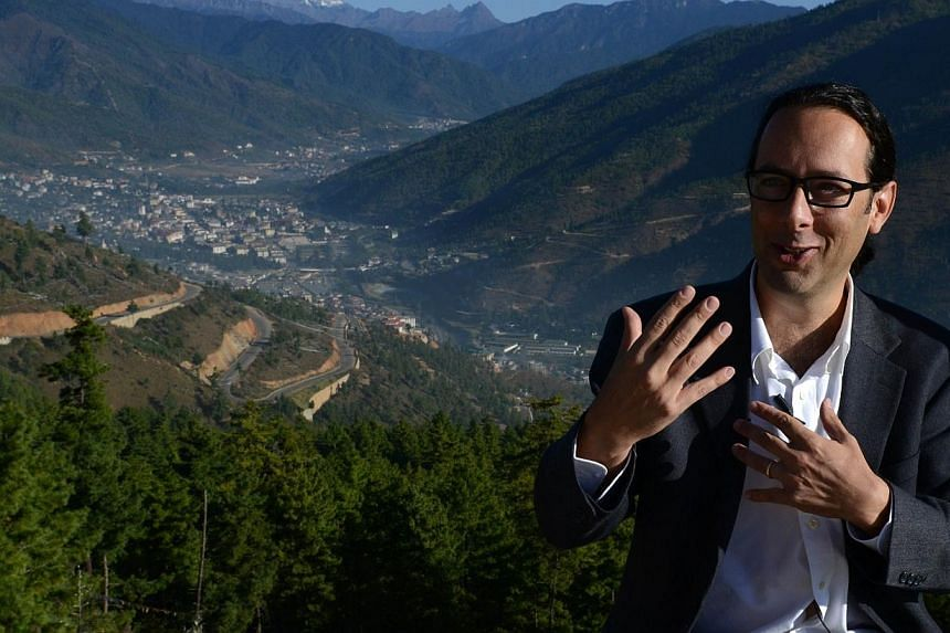 Google's Street View Manager Divon Lan speaks during an interview with AFP in Thimphu on Oct 23, 2014. -- PHOTO: AFP