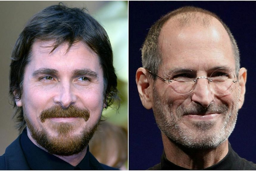 Actor Christian Bale (left) has been picked to play Apple co-founder Steve Jobs in an upcoming biopic. -- PHOTO: AFP/WIKIMEDIA COMMONS