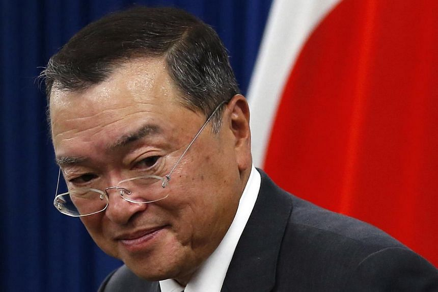 Japan's newly-appointed Economy, Trade and Industry Minister Yoichi Miyazawa attends a news conference at his ministry in Tokyo on Oct 21, 2014. Miyazawa has been caught in a funding scandal as a political support group of his spent money at a racy b