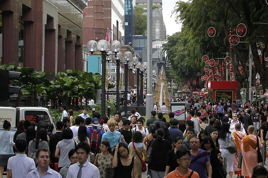 Retail spaces in Orchard were the worst hit as vacancies climbed from 7.4 per cent in the second quarter this year to 7.9 per cent for the three months ended Sept 30 - the highest in three years. -- PHOTO: ST FILE
