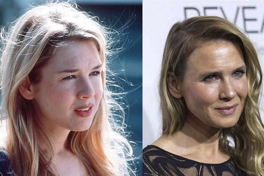 Renee Zellweger in 2000 (left) from a movie still from Me, Myself and Irene and at the 21st annual ELLE Women in Hollywood Awards in Los Angeles, California on Oct 20, 2014. -- PHOTO:20TH CENTURY FOX & REUTERS