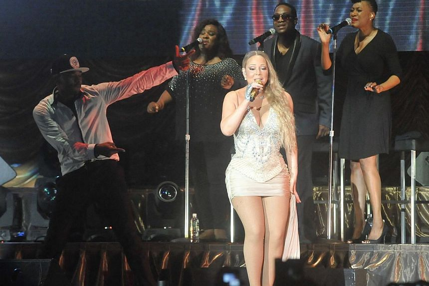 Mariah Carey performs in Singapore at the National Stadium on Oct 24, 2014. -- PHOTO: UNUSUAL PRODUCTIONS