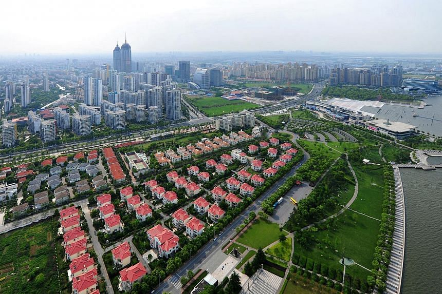 Aerial view of Suzhou Industrial Park in China. -- PHOTO:CSSIPDC