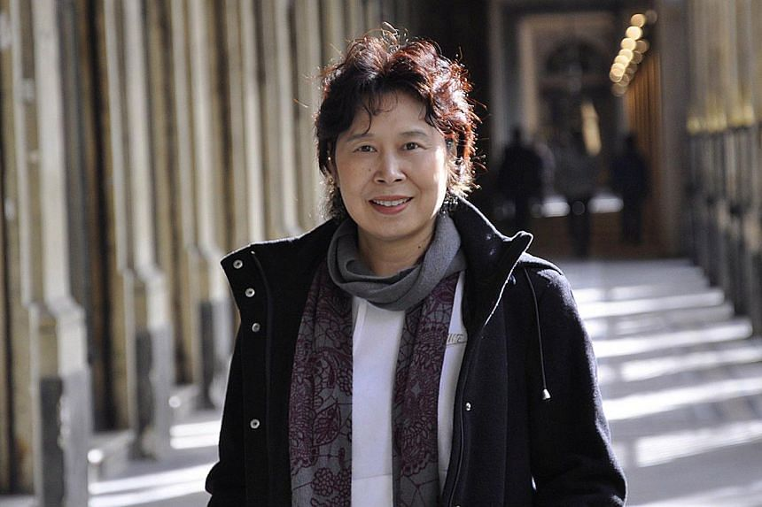 Author Zhang Ling (above) spent time in a maternity hospital to research her latest book, Contractions, which was published in Chinese in March. -- PHOTO: SINGAPORE WRITERS FESTIVAL