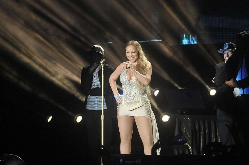 At her concert last Friday night, Mariah Carey nailed most of the notes in her 19-song set. -- PHOTO: UNUSUAL PRODUCTIONS