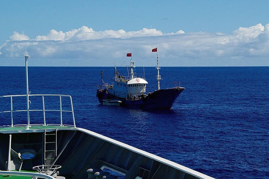 Japan's coastguard said it arrested the captain of Chinese fishing boat Zheling Yuyun 622 (pictured) onMonday on suspicion of coral poaching after a high seas chase in the country's exclusive economic zone. -- PHOTO: AFP