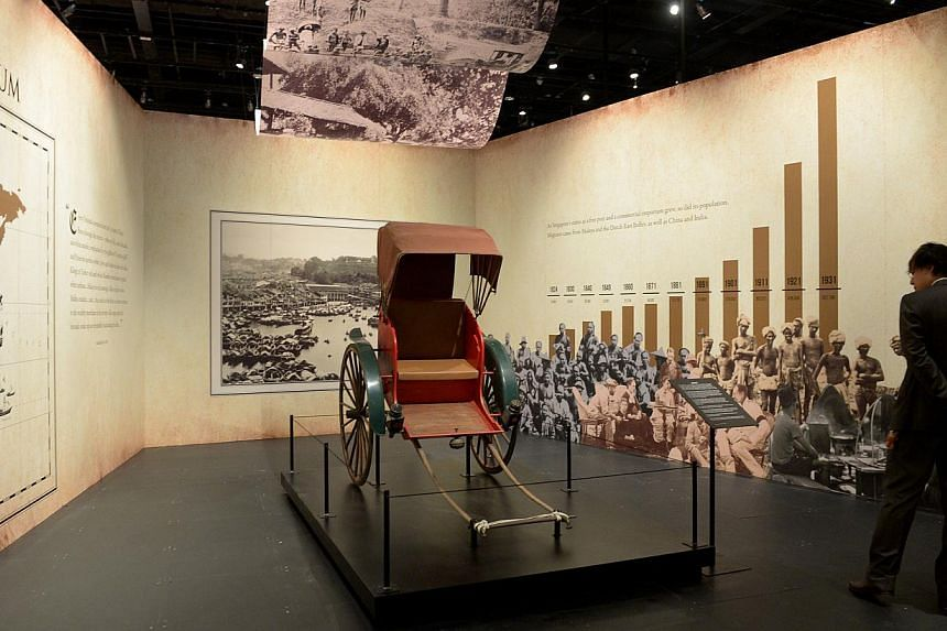 One of the exhibit at Colonial Singapore (1819-1942) where the British developed Singapore into a thriving port and premier city in the region.-- ST PHOTO:JAMIE KOH