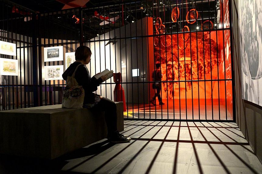 The Syonan-To (1942-1945) section where the public can experience a Changi Prison cell and see how Prisoners of Wars survived those years.-- ST PHOTO:JAMIE KOH