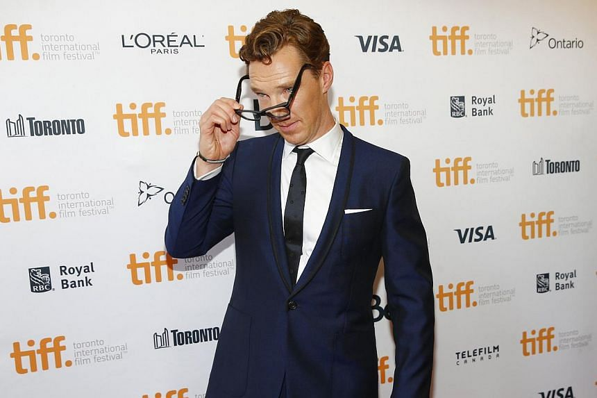 Actor Benedict Cumberbatch arrives to the The Imitation Game gala at the Toronto International Film Festival (TIFF) in Toronto on Sept 9, 2014. -- PHOTO: REUTERS