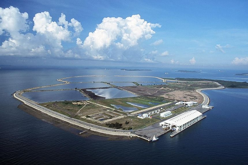 Singapore will build a first-in-the-region, hybrid micro-grid that combines renewable power from the sun, wind and sea. The demonstration grid will be located offshore at the Semakau Landfill (pictured). -- PHOTO: NATIONAL ENVIRONMENT AGENCY