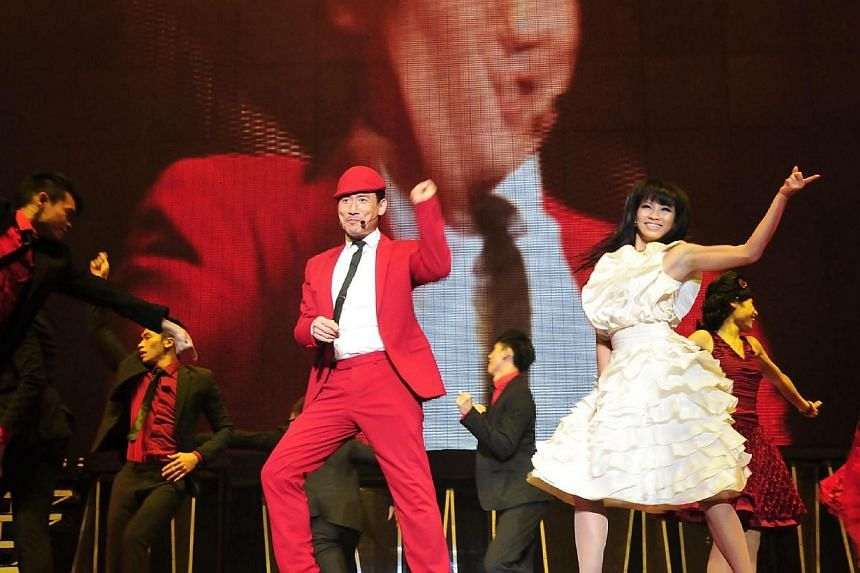 Hong Kong's Heavenly King Jacky Cheung performing at the Singapore Indoor Stadium on Aug 26, 2011. -- PHOTO: UNUSUAL ENTERTAINMENT PTE LTD