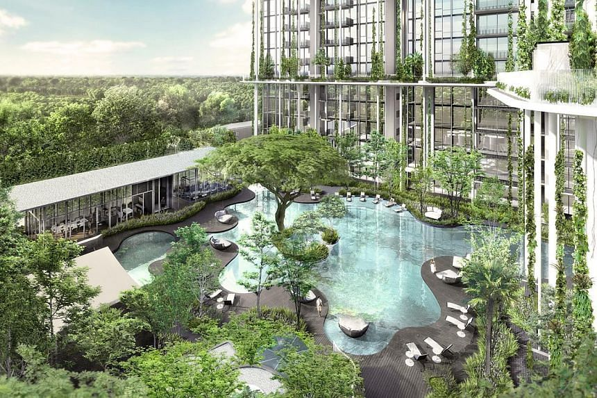 Artist's impression of the freehold 337-unit The Tembusu, which is Wing Tai Holdings' 50th anniversary development. -- PHOTO: WING TAI HOLDINGS