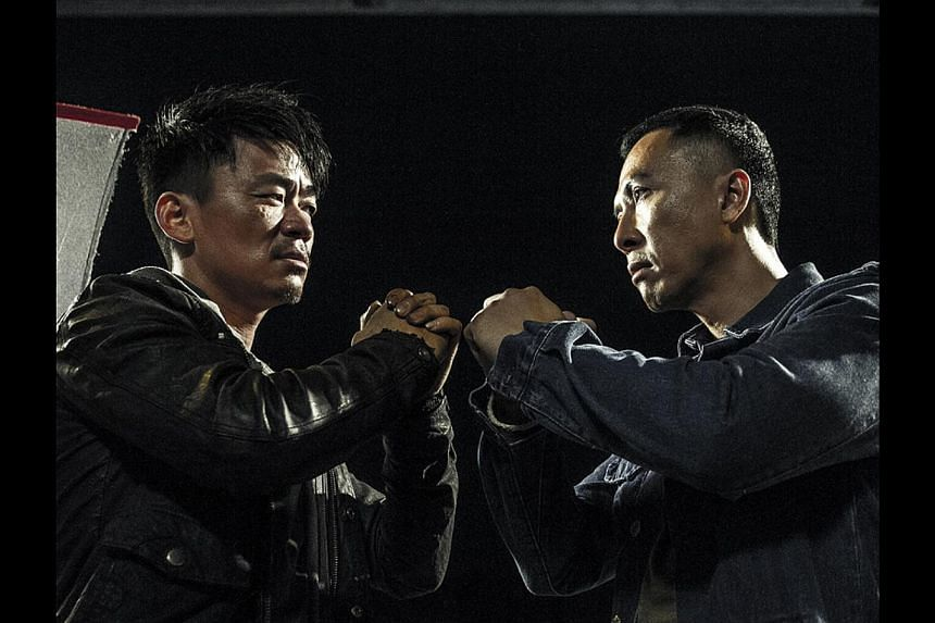 Shaolin-trained actor Wang Baoqiang (left, with Donnie Yen) shows off both his acting and gongfu chops in Kung Fu Jungle. -- PHOTO: GOLDEN VILLAGE