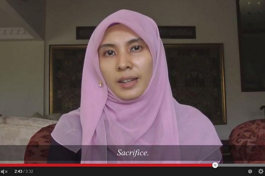 Ms Nurul Izzah Anwar, the eldest daughter of Mr Anwar Ibrahim, has recently released an emotional video in a last-ditch effort to rally support for the opposition leader who could once again be thrown behind bars for convicted sodomy. -- PHOTO: SCREE