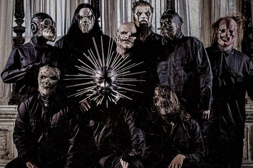 Heavy metal rockers Slipknot's record 5: The Gray Chapter took the lead on the weekly United States Billboard chart on Oct 29, 2014. -- PHOTO: ROADRUNNER RECORDS