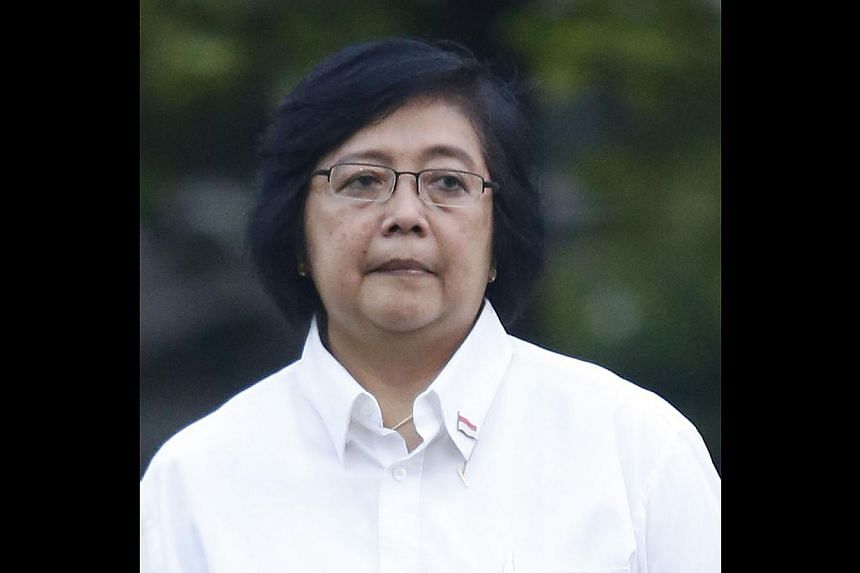 Siti Nurbaya, 58, Minister for Environment and Forestry. -- PHOTOS: JAKARTA POST/ASIA NEWS NETWORK, AGENCE FRANCE-PRESSE