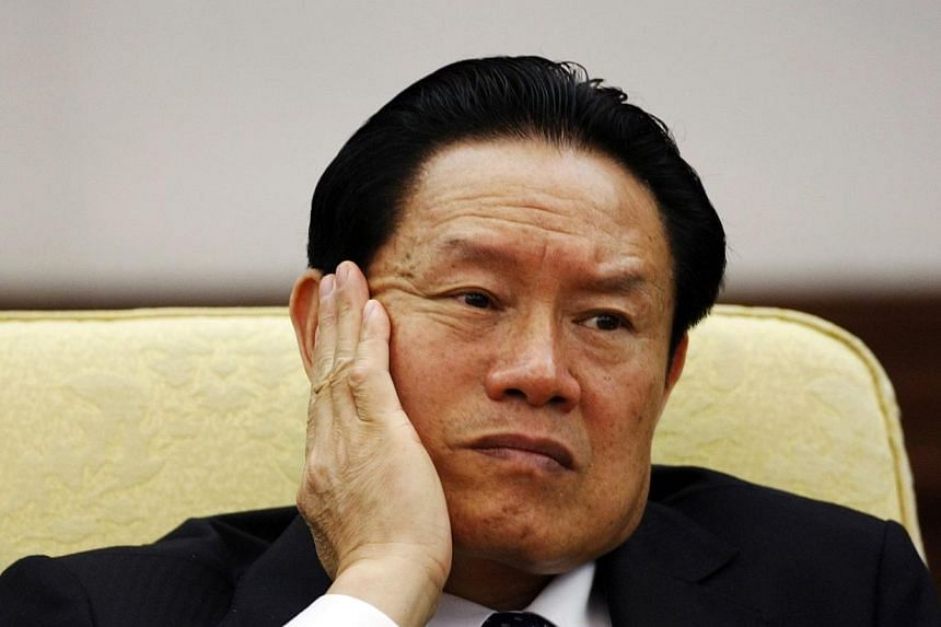 China has not started legal proceedings against former domestic security chief Zhou Yongkang, the highest-profile figure to be caught in a government crackdown on corruption. -- PHOTO: REUTERS
