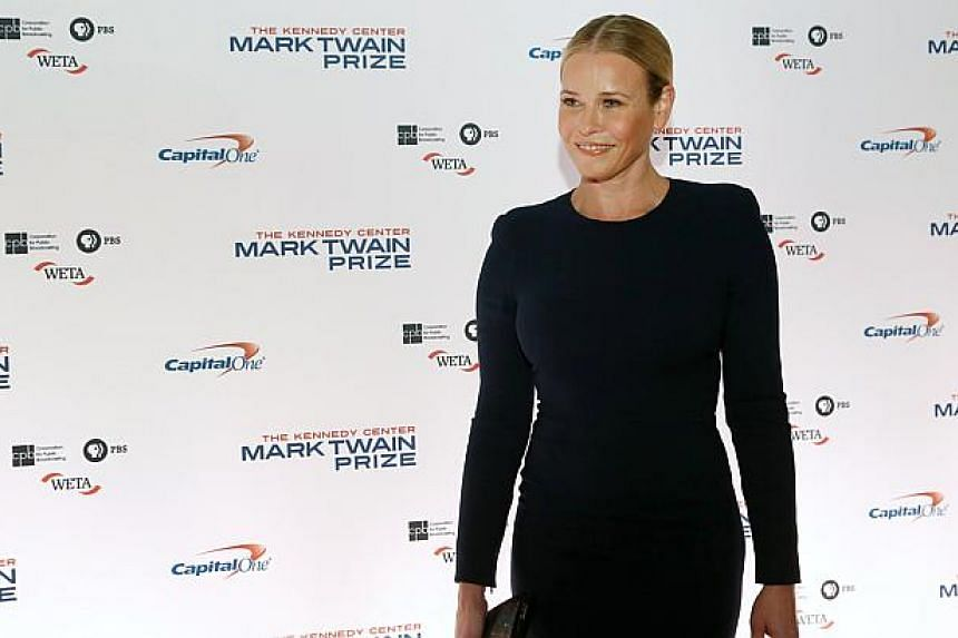 US comedienne Chelsea Handler, seen here at an event to honour comedian Jay Leno in Washington on Oct 19, 2014, is fighting with Instagram after it took down a topless picture she posted looking similar to a famous shirtless picture of Russian Presid