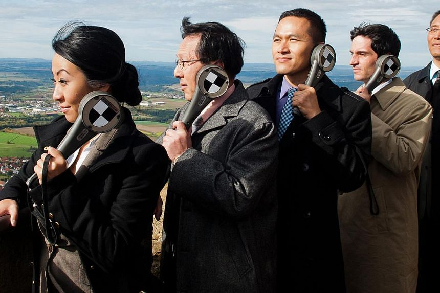 (From left) Jinjin Harder, Zengquan Guo, Kevin Chen, Christoph Bach and Yu Fang in Global Player. -- PHOTO: SABOTAGE FILMS, WOLFGANG SCHMIDT