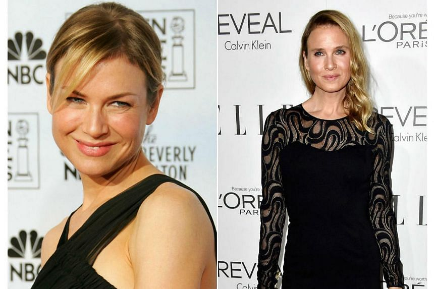 Renee Zellweger in 2006 (left) and in 2014 (right). -- PHOTO: AFP