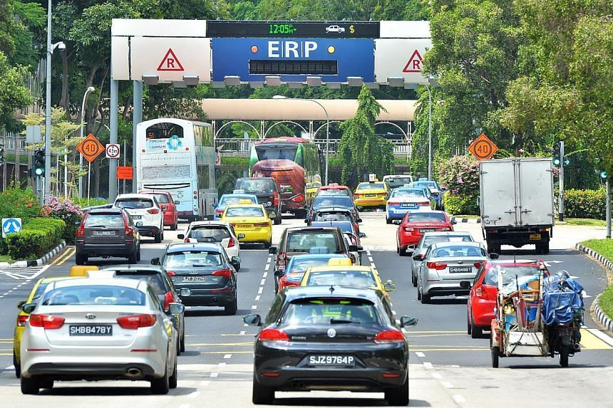 """Data collected by a satellite-tracked electronic road-pricing (ERP) system Singapore is building will be """"aggregated and anonymised"""", said Transport Minister Lui Tuck Yew in response to questions about how privacy will be safeguarded. -- PHOTO: ST FI"""