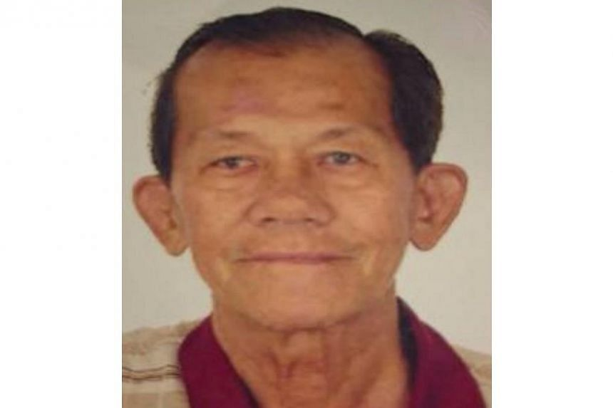 Police are appealing for information on the whereabouts of 74-year-old Tan Chaw Hong. He was last seen in the vicinity of Ang Mo Kio Avenue 3 on Oct 1 at about 8am. -- PHOTO: SPF