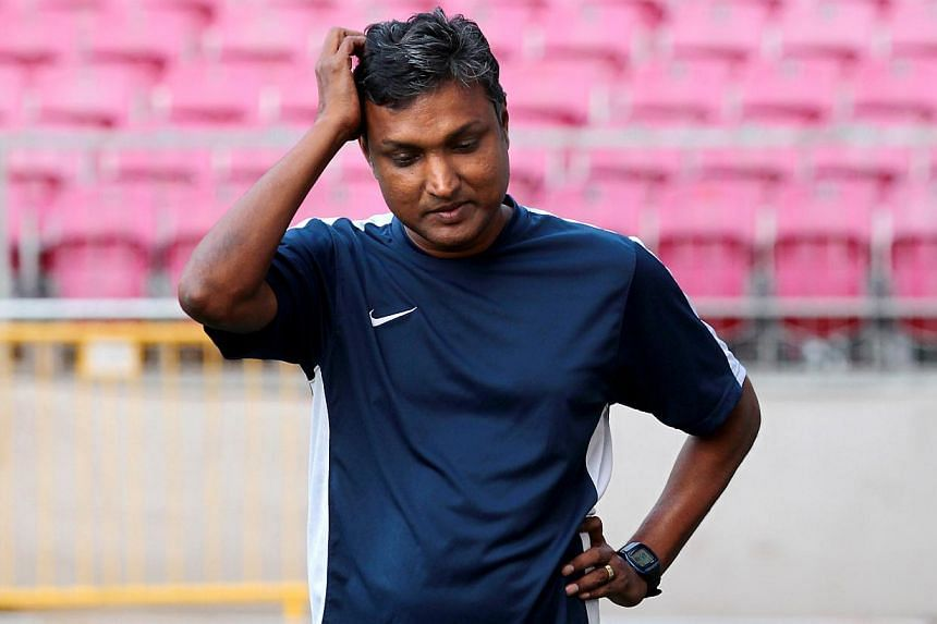 Former LionsXII coach V. Sundramoorthy is rumoured to be on his way out of Malaysian Premier League outfit Negeri Sembilan after just one season in charge. -- PHOTO: THE NEW PAPER FILE