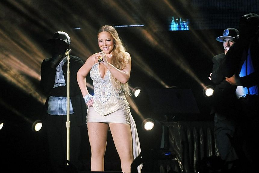 American singer Mariah Carey performing at the Singapore National Stadium on Oct 24, 2014. According to entertainment website TMZ,Carey is one high maintenance star - she can chalk up nearly US$85,000 (S$109,000) in make-up and styling fees jus