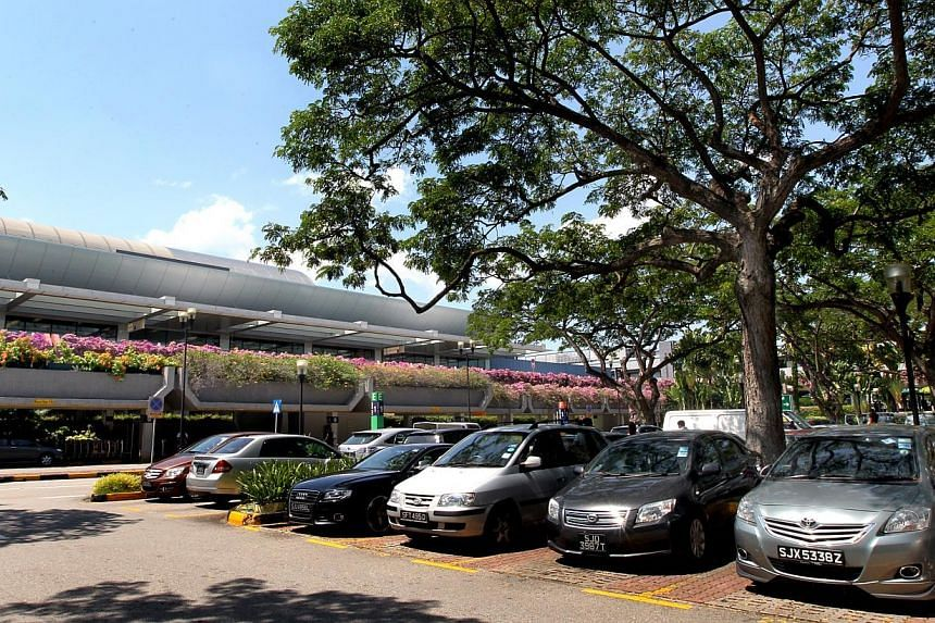 The open-air car park in front of Terminal 1 (T1) will be closed permanently on Nov 12 at 2am. -- PHOTO: SPH