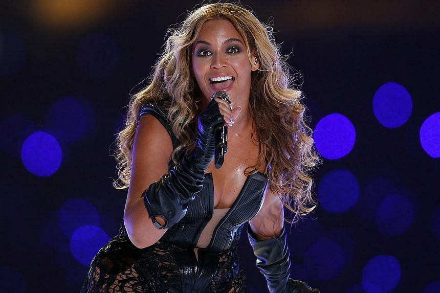 Beyonce performs during the half-time show of the NFL Super Bowl XLVII football game in New Orleans, Louisiana on Feb 3, 2013. -- PHOTO: REUTERS