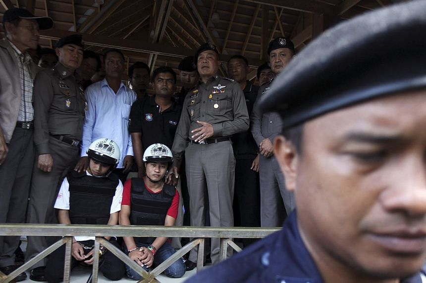 """Myanmar has officially called for Thai authorities to reopen the investigation into the murder of two British tourists for which two Myanmar citizens have been arrested as there are """"many unanswered questions"""". -- PHOTO: REUTERS"""