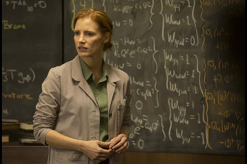 Matthew McConaughey and Anne Hathaway (both above) play space pilots in Interstellar, whose mission to find a suitable place for human habitation causes them to experience time differently. Jessica Chastain (left) plays his daughter who grows up in t