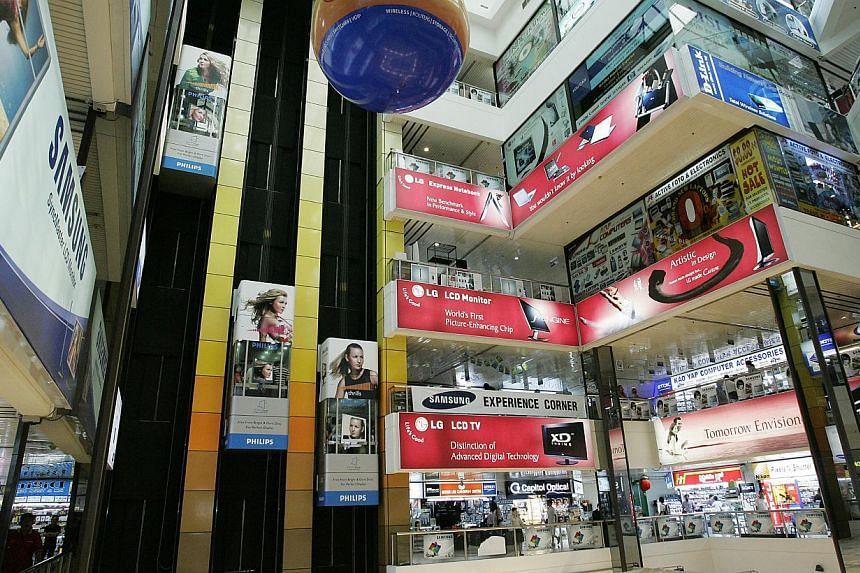The interior of popular computer mall, Sim Lim Square. -- PHOTO: ST FILE