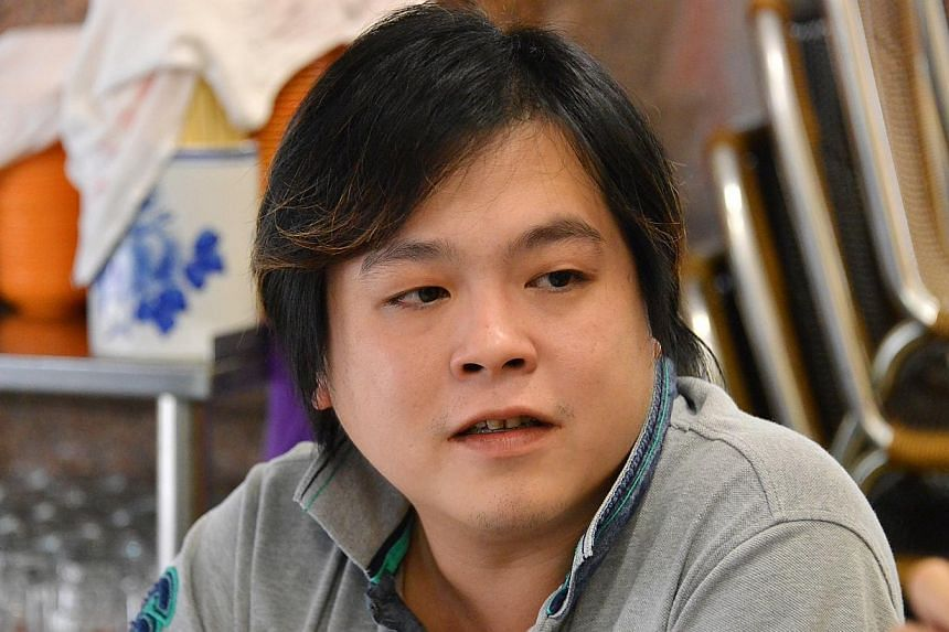 Jover Chew, owner of Mobile Air, a mobile phone shop in Sim Lim Square which has been blacklisted by the Consumers Association of Singapore (Case) for its unfair practices. -- ST PHOTO: AARON ENG