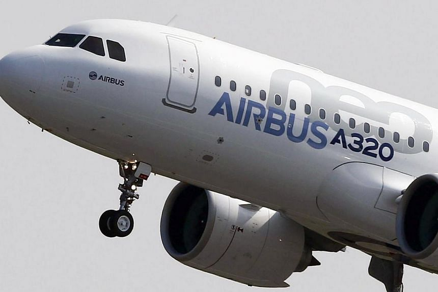 European aerospace giant Airbus announced Thursday it had signed a preliminary deal to supply the China Aircraft Leasing Company with 100 planes, a contract worth around 8.1 billion euros (S$13.09 billion) at catalogue prices. -- PHOTO: REUTERS