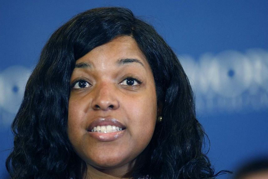 Amber Vinson speaks before her release from Emory University Hospital in Atlanta, Georgia on Oct 28, 2014. One of the US nurses who helped treat a Liberian man with Ebola in Texas last month defended her controversial decision to fly after treat