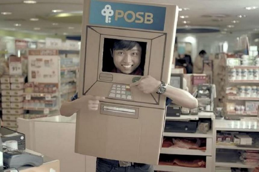 A screengrab of POSB's ad for the new service. -- PHOTO: SCREENGRAB FROM YOUTUBE