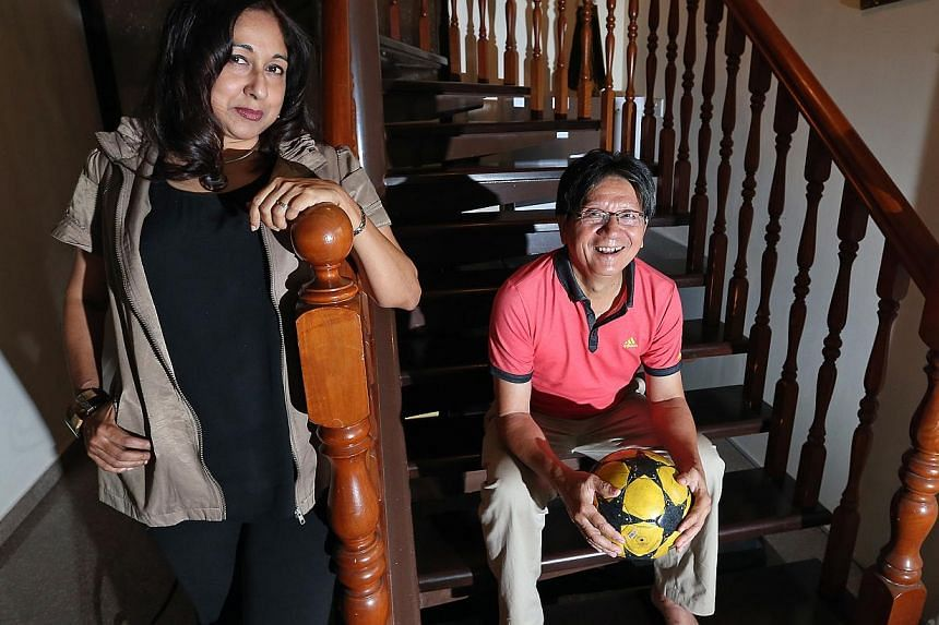 Former national footballer Quah Kim Song's new autobiography is written by Jacintha Stephens. -- ST PHOTO:NEO XIAOBIN