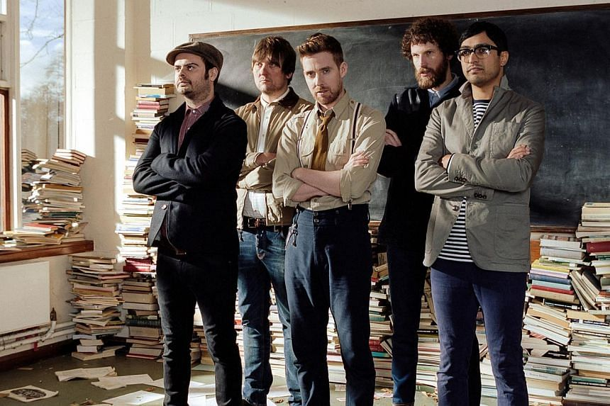 Kaiser Chiefs comprise (from far left) Nick Baines, Andrew White, Ricky Wilson, Simon Rix and Vijay Mistry. -- PHOTO: DANNY NORTH