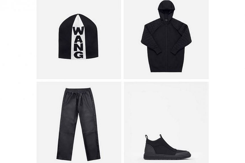 Apparel and accessories from H&M's Alexander Wang collection.