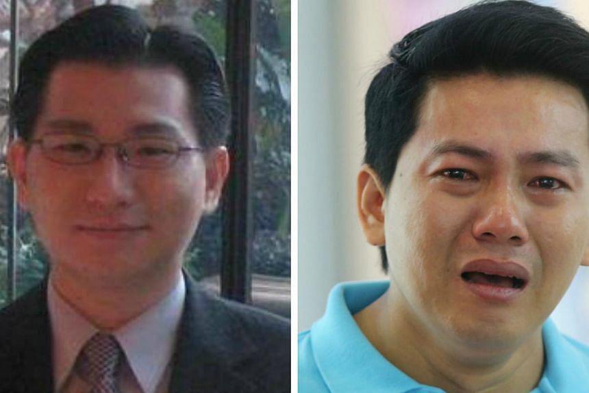 Singaporean Gabriel Kang (left) initiated a crowdfunding campaign to raise money for Vietnamese tourist Pham Van Thoai (right). -- PHOTO: GABRIEL KANG'S FACEBOOK/LIANHE ZAOBAO