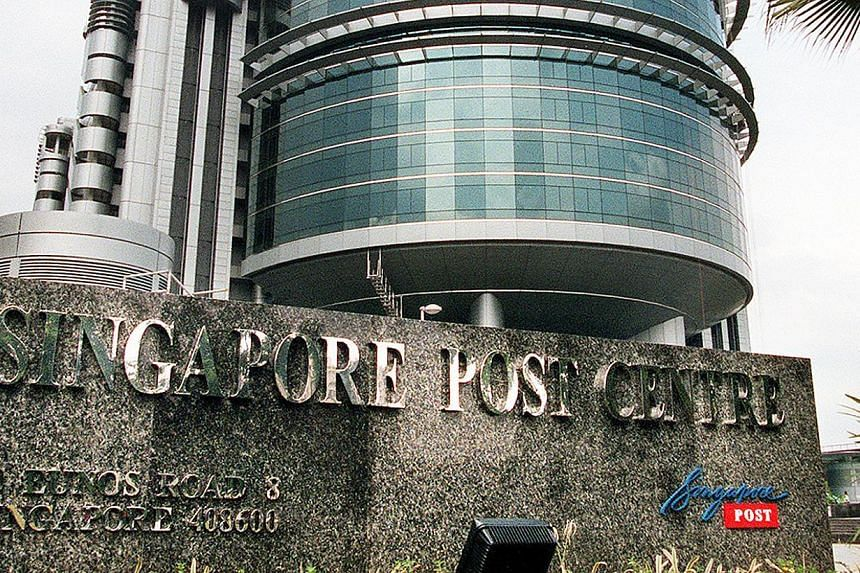 Singapore Post posted a net profit of $37.6 million for its second quarter ended Sept 30, up 5.5 per cent from a year ago. -- PHOTO: ST FILE